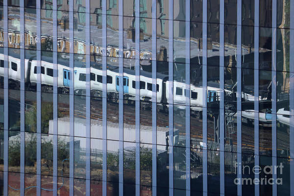 Photograph - Train Reflections London by Julia Gavin