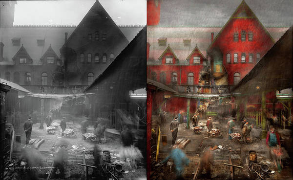 Photograph - Train Station - Accident - Smasher Disaster 1906 - Side By Side by Mike Savad
