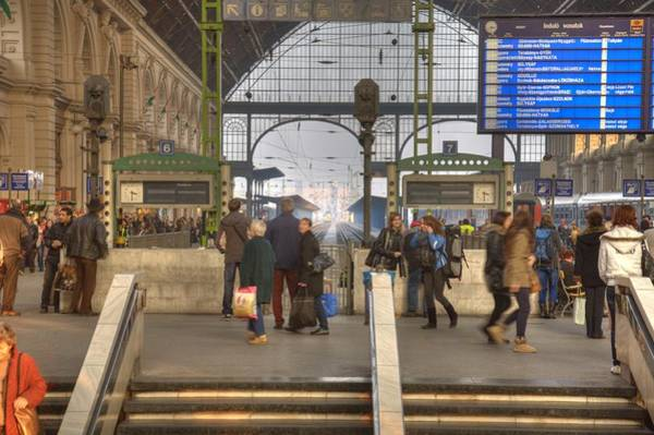 Photograph - Train Station In Budapest by Matthew Bamberg