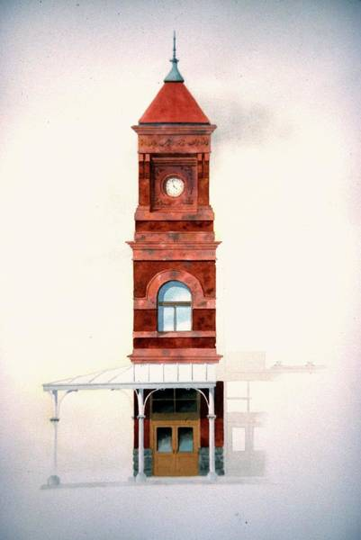 Train Station Tower Art Print