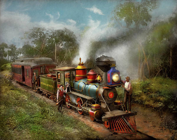 Photograph - Train - The Celestial Railroad 1896 by Mike Savad