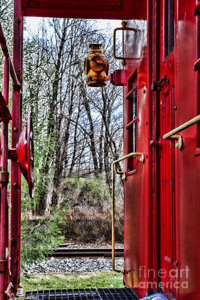 Wall Art - Photograph - Train - The Red Caboose by Paul Ward