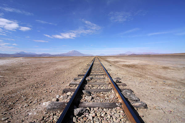 Photograph - Train Tracks In The Desert, Bolivia by Aidan Moran