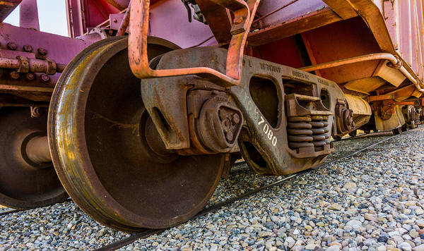 Heber Springs Photograph - Train Truck by TL  Mair