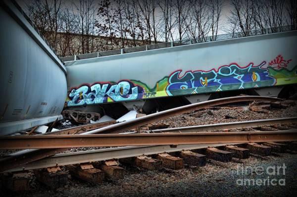 Train Derailment Photograph - Train Twisted Metal  by Paul Ward