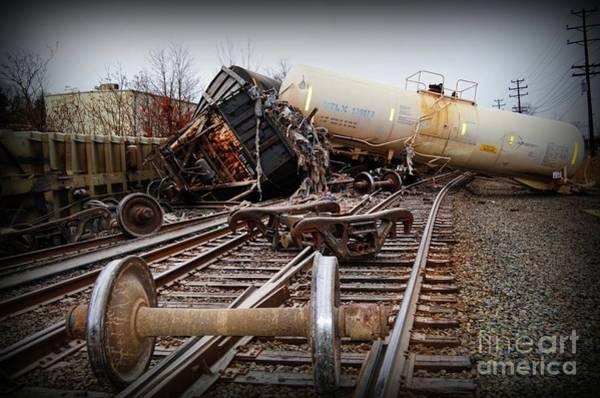 Train Derailment Photograph - Train Wreck  by Paul Ward