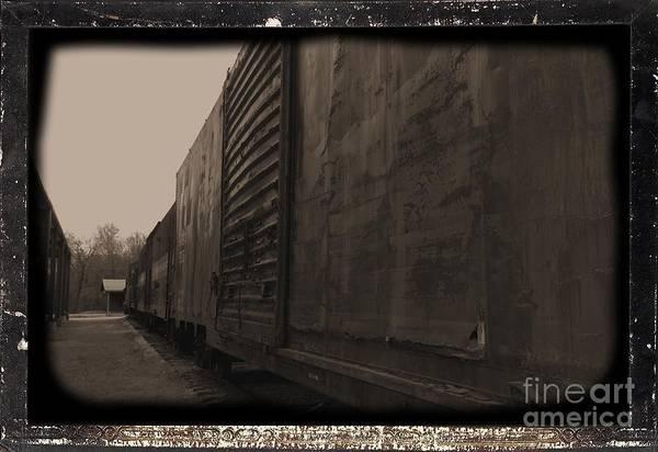 Photograph - Trains 12 Daguerreotype Border by Jay Mann