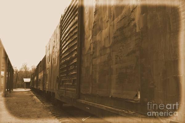 Photograph - Trains 12 Albumen by Jay Mann