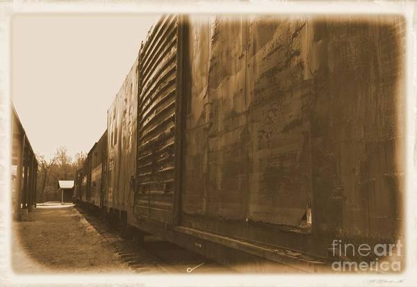 Photograph - Trains 12 Albumen Border by Jay Mann