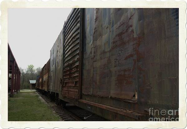 Photograph - Trains 12 Autochrome Border by Jay Mann