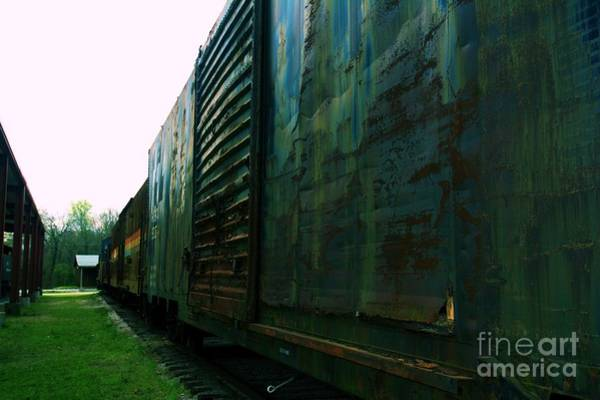 Photograph - Trains 12 Cross Process by Jay Mann