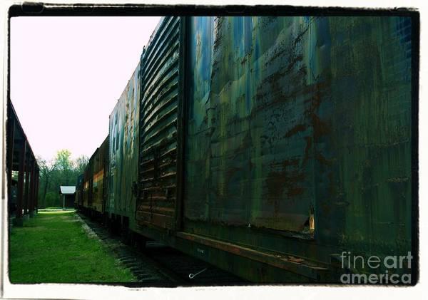 Photograph - Trains 12 Cross Process Border by Jay Mann