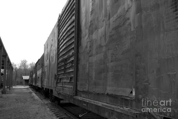 Photograph - Trains 12 Blkwht by Jay Mann