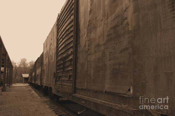 Photograph - Trains 12 Sepia by Jay Mann