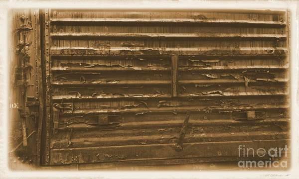 Photograph - Trains 13 Albumen Border by Jay Mann