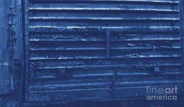 Photograph - Trains 13 Cyanotype by Jay Mann