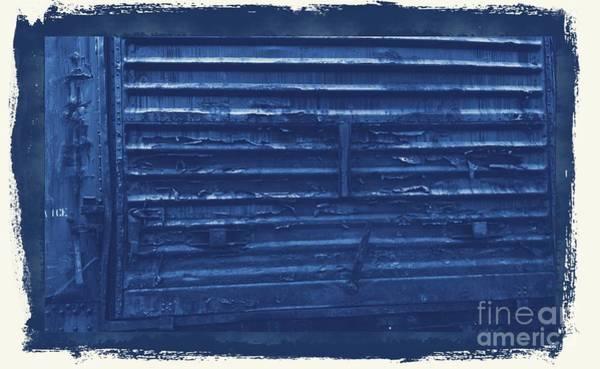 Photograph - Trains 13 Cyanotype Border by Jay Mann