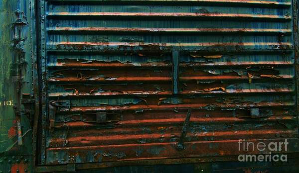 Photograph - Trains 13 Cross Process by Jay Mann
