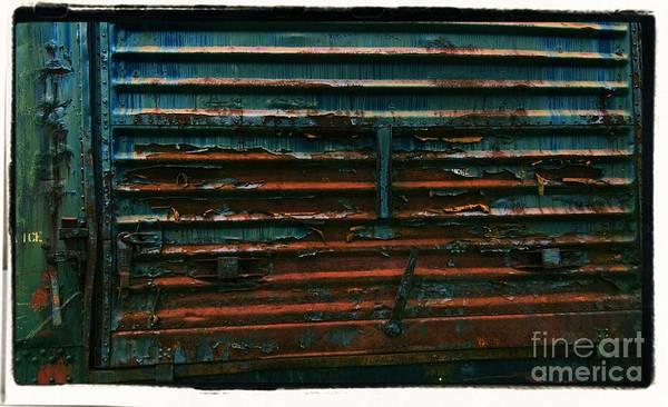 Photograph - Trains 13 Cross Process Border by Jay Mann