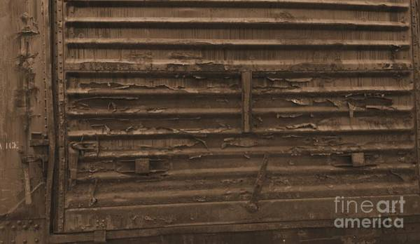Photograph - Trains 13 Sepia by Jay Mann