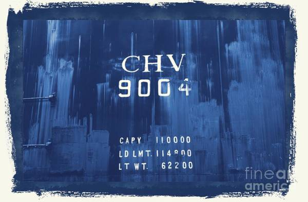 Photograph - Trains 14 Cyanotype Border by Jay Mann
