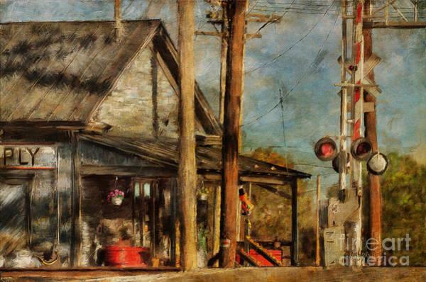 Train Tracks Digital Art - Train's Coming - Berryville Farm Supply by Lois Bryan