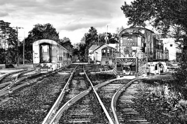 Photograph - Trains On The Tracks by David Patterson