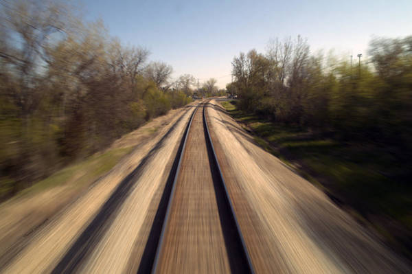 Wall Art - Photograph - Trains Power Approaching The Crossing by Thomas Woolworth