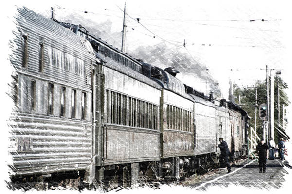 Doona Mixed Media - Trains Steam Engine All Aboard Pa 01 by Thomas Woolworth