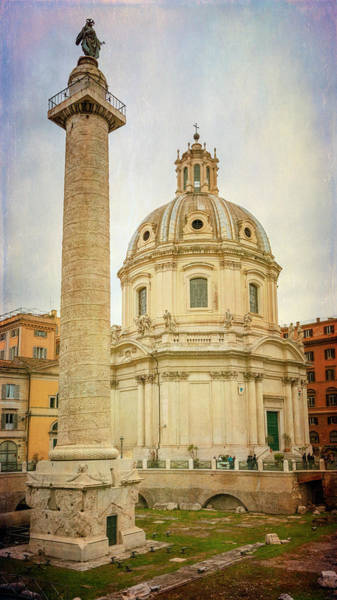 Photograph - Trajans Column Rome Italy by Joan Carroll