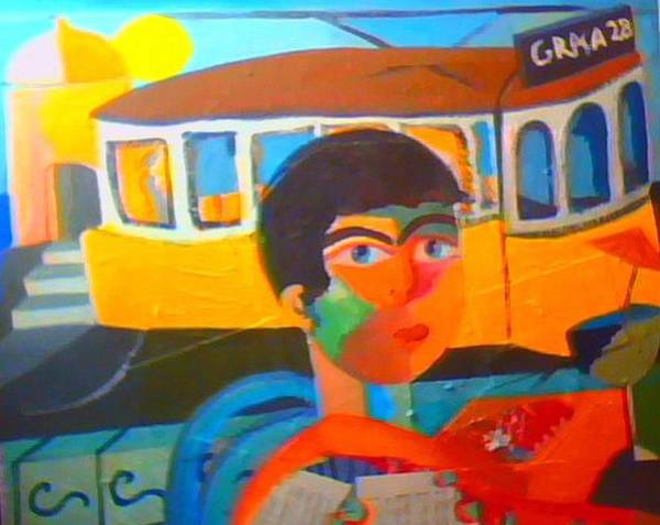 Painting - Tram by Ana Johnson