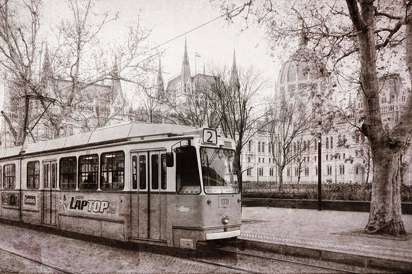 Photograph - Tram And Parliament by Joan Carroll