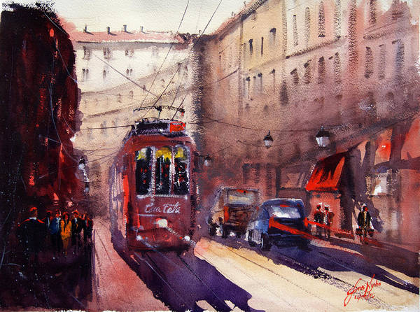 Rail Painting - Tram Milan by James Nyika