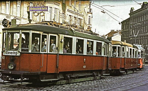 The Belvedere Photograph - Tram To Sievering by Ira Shander
