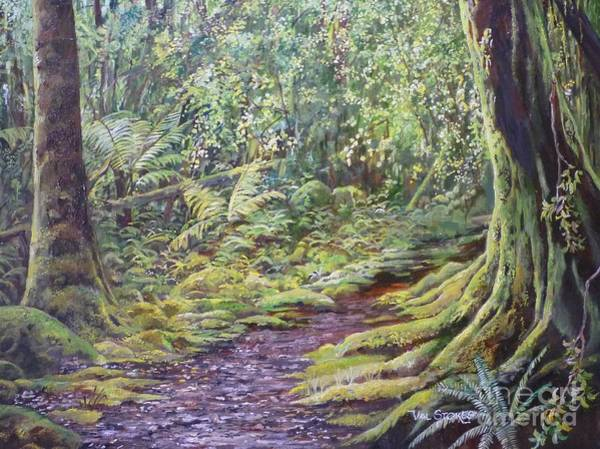 Painting - Trampers Track by Val Stokes