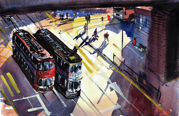 Rail Painting - Trams, Perspective by James Nyika