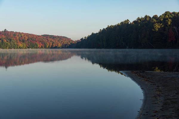 Photograph - Tranquil Autumn Mirror - by Georgia Mizuleva