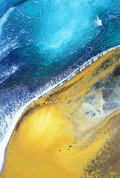 Color Block Mixed Media - Tranquil Beaches by Georgiana Romanovna
