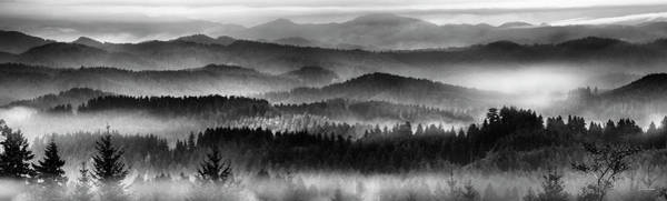 Oregon Ridge Photograph - Tranquil Black And White 11 by Leland D Howard