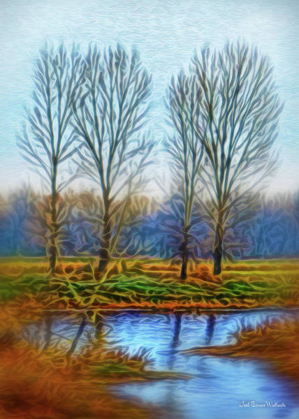 Digital Art - Tranquil Misty Morning by Joel Bruce Wallach