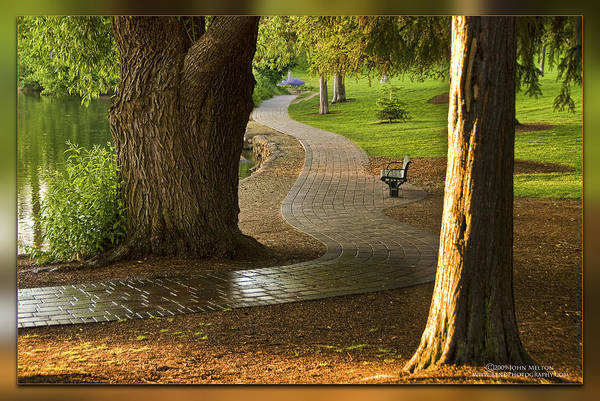Wall Art - Photograph - Tranquil Path - Bend, Oregon by John Melton