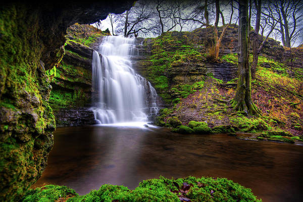 Photograph - Tranquil Slow Soft Waterfall by Dennis Dame