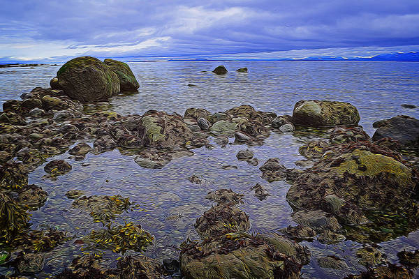 Digital Art - Tranquility At Low Tide by Richard Farrington