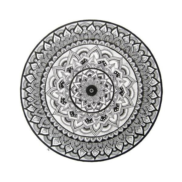 Boho Chic Drawing - Tranquility Petals by Jane Welzien