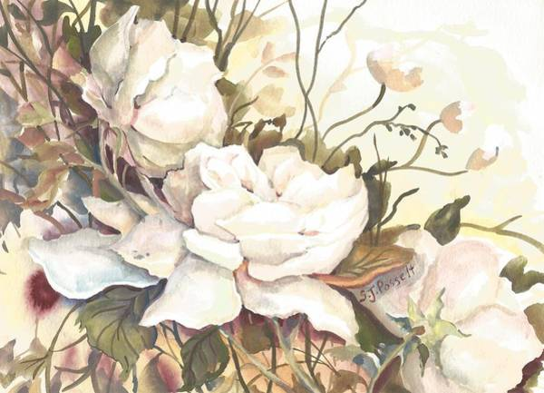 Painting - Tranquility Study In White by Sheri Jo Posselt