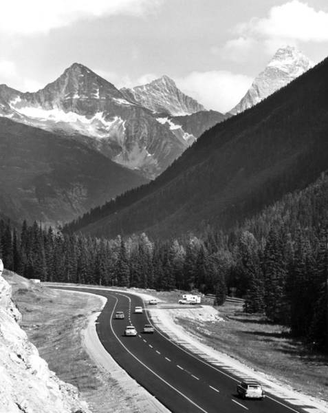 British Columbia Photograph - Trans-canada Highway by Underwood Archives
