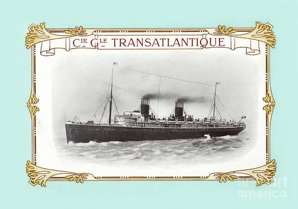Steam Boat Photograph - Transatlantique by Delphimages Photo Creations
