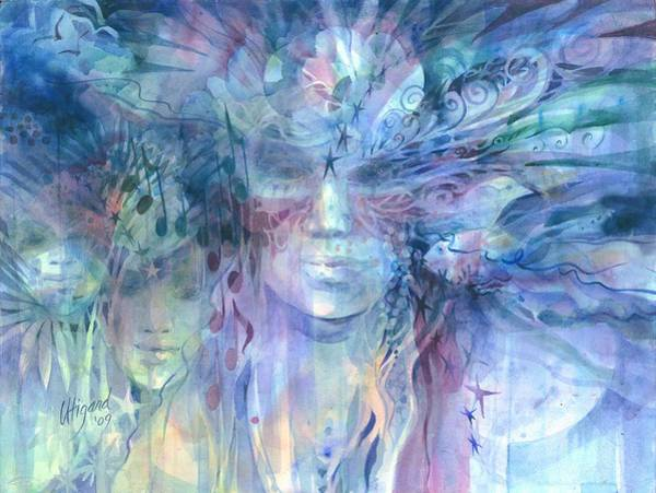 Painting - Transcending Worlds by Carolyn Utigard Thomas
