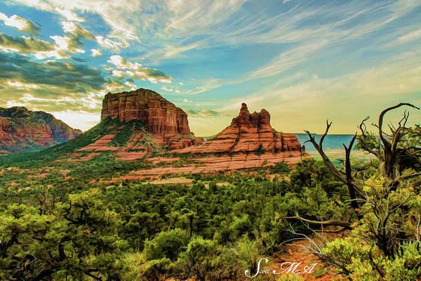 Bell Rock Photograph - Transept Mountains 04-131 by Scott McAllister