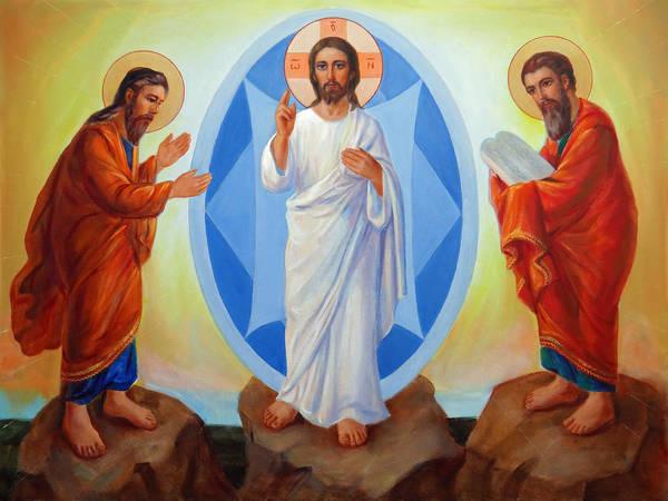 Wall Art - Painting - Transfiguration Of Jesus by Svitozar Nenyuk